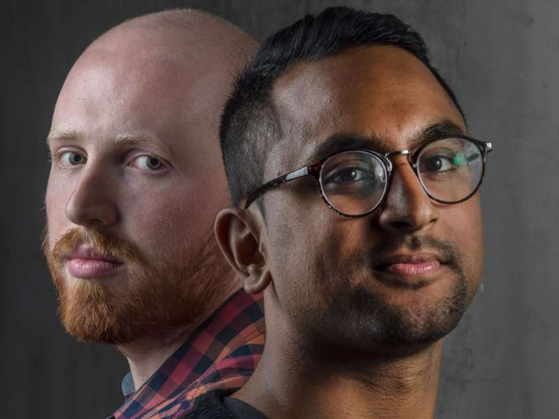 a man wearing glasses and looking at the camera: Daniel D'Souza, left, Crescendo Inc. co-founder and COO, and Stefan Kollenberg, co-founder and CRO, found their comfort zone for pricing and learned some valuable lessons along the way.