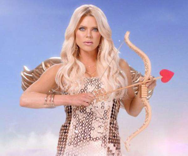 a person in a dress: She's back! Sophie Monk will be playing Cupid/host for a second season.                   (Image: Nine Network)