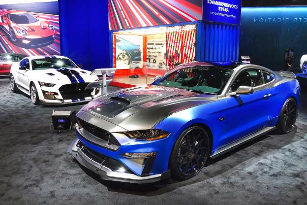 Slide 1 of 35: 001-ford-booth-sema-2019-mustang-shelby-concept.jpg