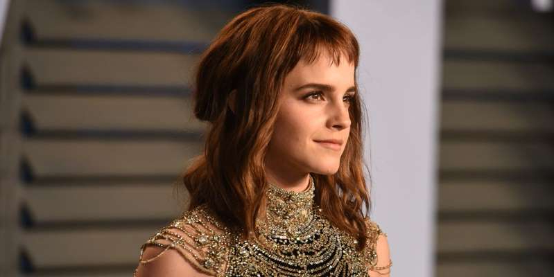 Emma Watson looking at the camera: Emma Watson recently spoke about learning to be happy while single, and described herself as