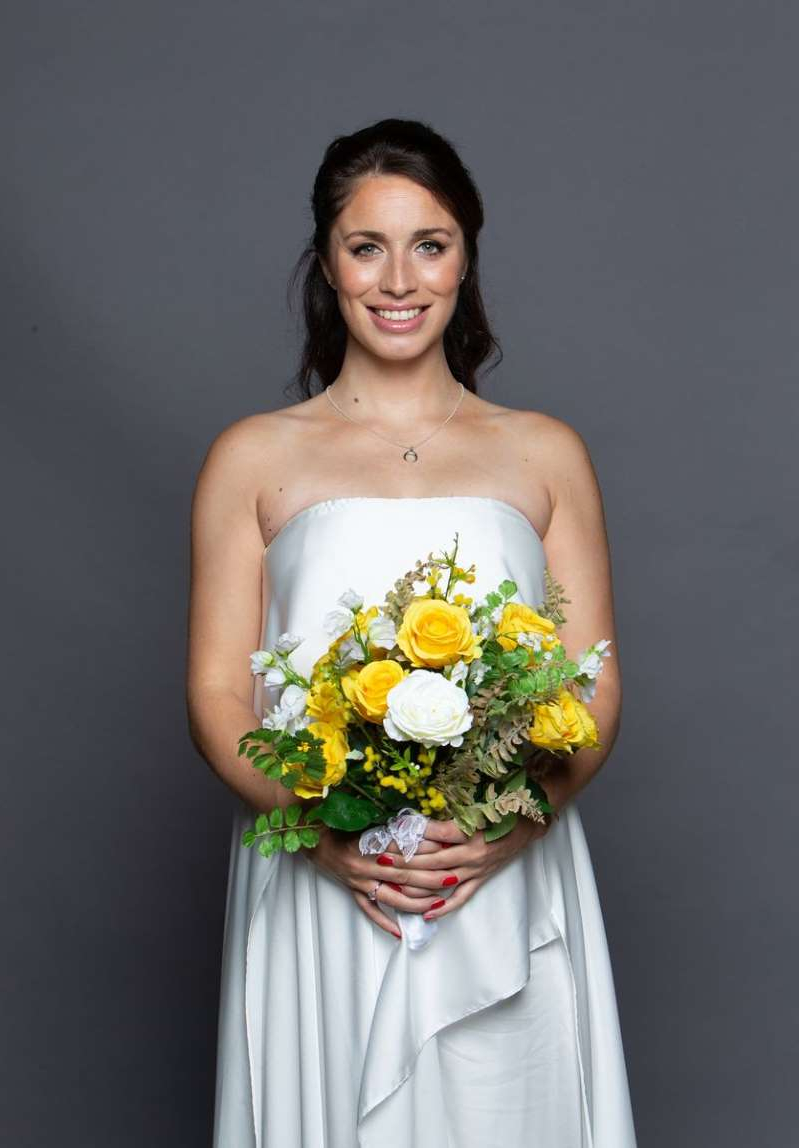Julia Goulding in a wedding dress: Shona and David in Coronation Street