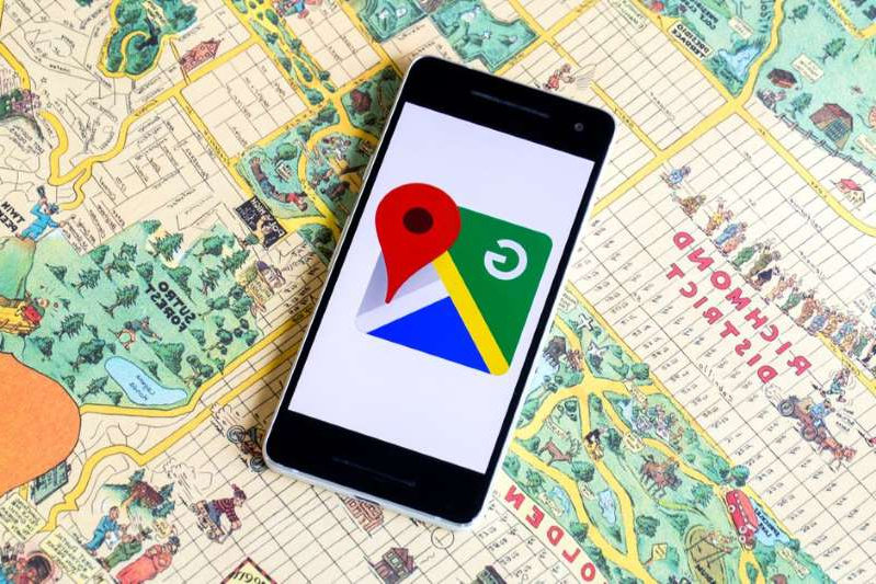 a close up of a map: You can now go Incognito when using Google Maps. Angela Lang/CNET