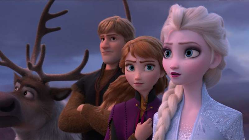 a group of people posing for the camera: Disney releases first trailer to action-packed 'Frozen 2'