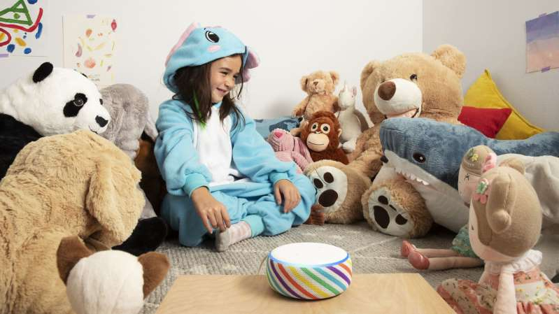 a group of teddy bears sitting next to a woman: null
