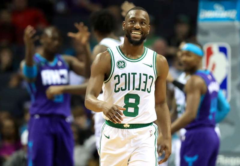 Kemba Walker holding a basketball: it was an emotional night for Kemba Walker, who returned to Charlotte for the first time since leaving the Horners and signing with the Celtics in the offseason.