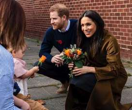 Meghan Markle et al. around each other: The Duke and Duchess of Sussex surprised military families with a visit to their weekly coffee group, and shared some cute updates about six-month-old Archie.