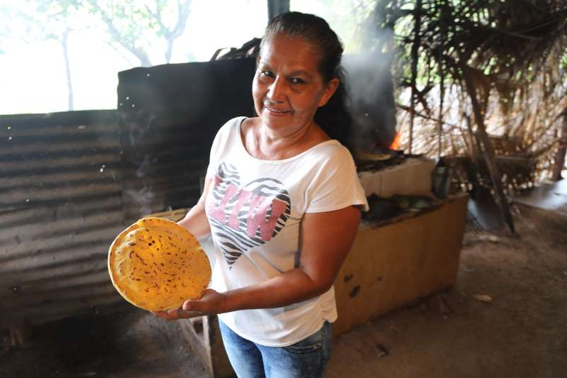Pratibha Ray in a yellow shirt: Anabelle Rangel and her sister are famous  tortilla makers in Santa Cruz, Guanacaste, Costa Rica.