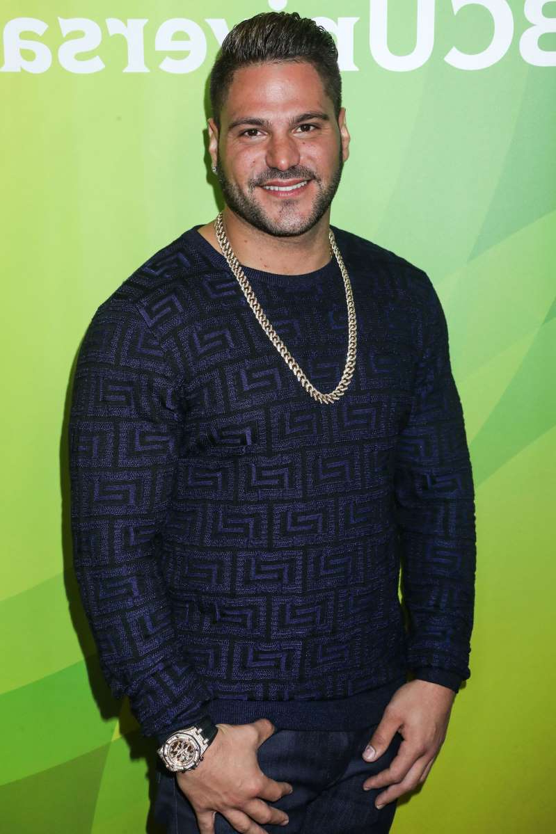 Ronnie Ortiz-Magro smiling for the camera: Ronnie Ortiz-Magro arrives at the 2017 NBCUniversal Summer Press Day in Beverly Hills, Calif., on March 20, 2017.