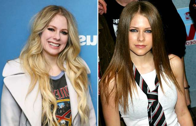 Slide 35 of 121: Avril Lavigne 830 USA New York City 2002; NEW YORK, NEW YORK - FEBRUARY 19: (EXCLUSIVE COVERAGE) Singer Avril Lavigne visits the SiriusXM Studios on February 19, 2019 in New York City. (Photo by Astrid Stawiarz/Getty Images)
