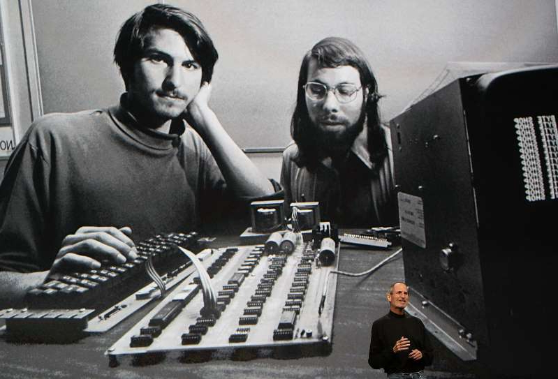 Steve Jobs, Steve Wozniak are posing for a picture: From starting in a garage to having only a few bucks to spare, some of the biggest companies in the world had some very humble beginnings.
