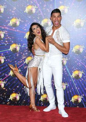 Slide 5 of 12: Janette Manrara and Aljaz Skorjanec  Janette and Aljaz dated for two years before they joined the Strictly pro dancer team in 2013. Two years later the sweet couple got engaged, married in 2017 and are still happily coupled up today. A little known fact is that Janette briefly dated fellow dancers Pasha Kovalev and Artem Chigvintsev in the past but ultimately, Aljaz was the one for her. Strictly curse don't you dare touch these two!