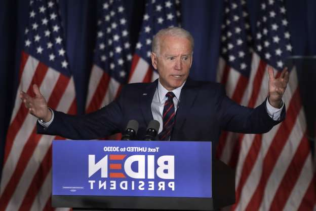 Slide 58 of 73: Democratic presidential candidate and former Vice President Joe Biden speaks at a campaign event, Wednesday, Oct. 9, 2019, in Rochester, N.H. (AP Photo/Elise Amendola)
