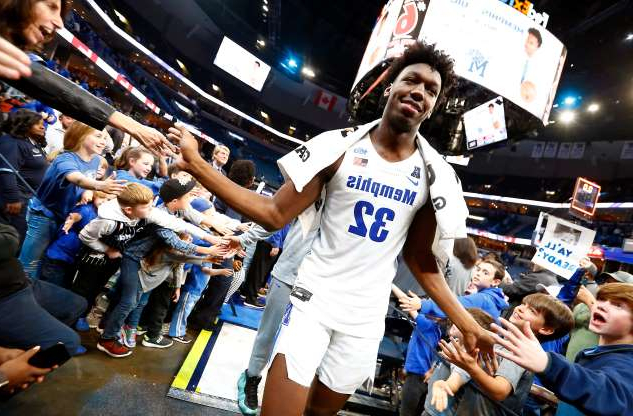 Slide 1 of 38: Memphis Tigers center James Wiseman walks off the court after their season opening 97-64 win over the South Carolina State Bulldogs at the FedExForum on Tuesday, Nov. 5, 2019.