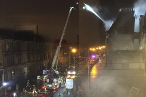 Fire on Albert Drive in Glasgow sees 11 fire engines sent to tackle blaze