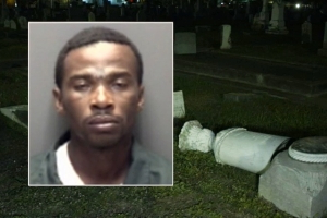 Man arrested after police say he destroyed headstones at Galveston cemetery