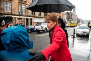 Nicola Sturgeon says 'it's a dark day for Pollokshields' as she visits scene of fire and building collapse