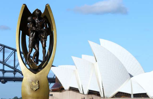 Slide 1 of 15: A NRL Premiership trophy replica is on display during the 2010 NRL Club Captains media call on Sydney Harbour on March 3, 2010 in Sydney, Australia. (Photo by Mark Nolan/Getty Images)