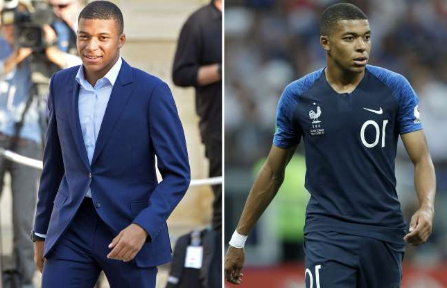 Slide 4 of 71: Kylian Mbappe of France during the 2018 FIFA World Cup Russia Final match between France and Croatia at the Luzhniki Stadium on July 15, 2018 in Moscow, Russia(Photo by VI Images via Getty Images); PARIS, FRANCE - JULY 16:  Kylian Mbappe arrives as French President Emmanuel Macron receives the France football team during a ceremony at the Elysee Palace on July 16, 2018 in Paris, France. France beat Croatia in the 2018 World Cup Final in Russia.  (Photo by Aurelien Meunier/Getty Images)