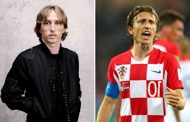 Slide 5 of 71: KALININGRAD, RUSSIA - JUNE 16:  Luka Modric of Croatia celebrates after scoring a penalty for his team's second goal during the 2018 FIFA World Cup Russia group D match between Croatia and Nigeria at Kaliningrad Stadium on June 16, 2018 in Kaliningrad, Russia.  (Photo by Alex Livesey/Getty Images); LONDON, ENGLAND - SEPTEMBER 24:  Luka Modric of Croatia and Real Madrid poses for a portrait prior to The Best FIFA Football Awards at London Marriott Hotel County Hall on September 24, 2018 in London, England.  (Photo by Gareth Cattermole - FIFA/FIFA via Getty Images)