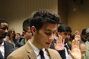 Syrian refugee who scored an ATAR of 96.65 two years after teaching himself English becomes an Australian citizen and reveals the touching reason he wants to become a doctor