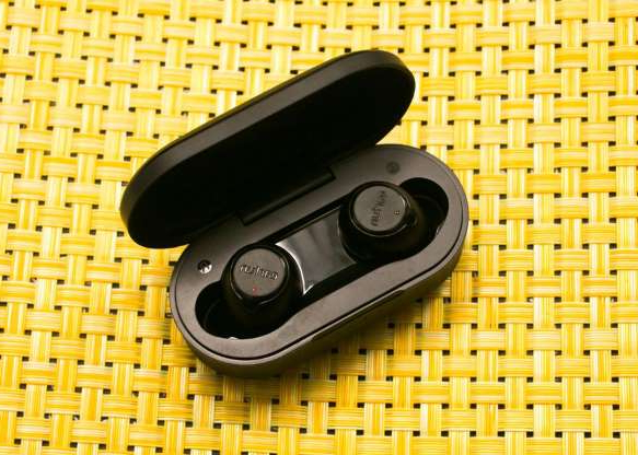 a black and yellow object: Looking for some great gifts you can snag for under $50? You've come to the right place. First up are some of the best ultrabudget true wireless earbuds we've seen. The EarFun Free has an impressive list of features at this price, including Bluetooth 5.0 (the latest standard) with both USB-C and wireless charging. It's also fully waterproof (IPX7) according to its specs. Do the earbuds sound fantastic? No, but they sound pretty good. They don't have the clarity of higher-end true wireless earbuds that cost $150 or more, but they do have plump bass and enough detail to avoid sounding dull. They're also pretty solid for making calls. An excellent value at $45 when you apply the 10% coupon on the product page.