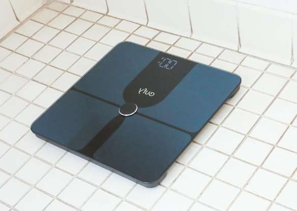a close up of a tiled floor: At around $40, the Eufy P1 is one of the more affordable smart scales. Beyond weight you can track body fat, BMI, bone mass, muscle mass and more for multiple users. You track everything using the EufyLife app, but the scale also ties into Apple Health, Google Fit and the Fitbit App. It's available in two colors.