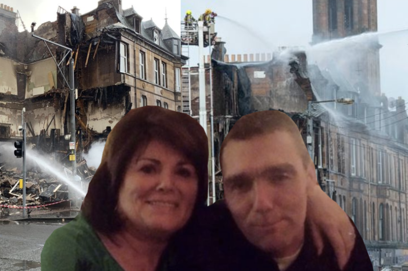 a group of people posing for the camera: Cass McArthur revealed her son Lee Gibson is recovering after being rescued from the burning building