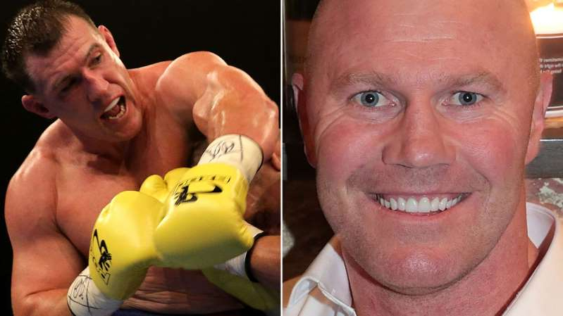 Barry Hall smiling for the camera: Barry Hall and Paul Gallen will fight at Margaret Court Arena on Friday.