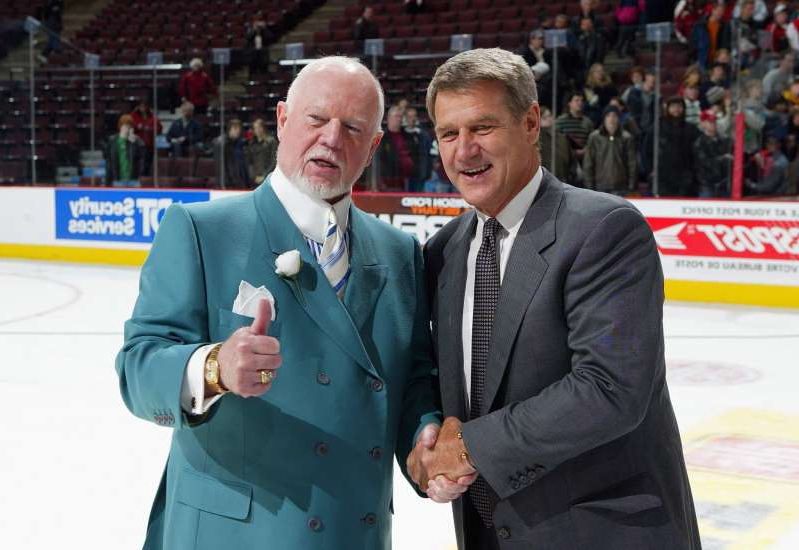 Bobby Orr, Don Cherry are posing for a picture: A petition to bring back hockey analyst Don Cherry after his firing has over 70,000 signatures