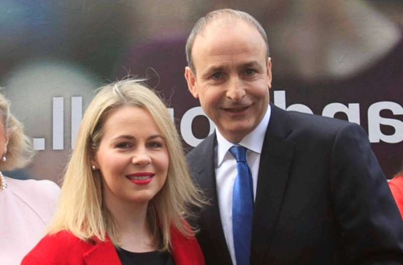 Micheal Martin, Lorraine Clifford posing for the camera: Fianna Fáil leader Micheal Martin pictured alongside Senator Lorraine Clifford-Lee. Photo: Gareth Chaney, Collins