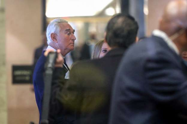 Slide 5 of 13: Former campaign adviser for President Donald Trump, Roger Stone, arrives inside Federal Court, Tuesday, Jan. 29, 2019, in Washington. Stone was arrested in the special counsel's Russia investigation and was charged with lying to Congress and obstructing the probe.