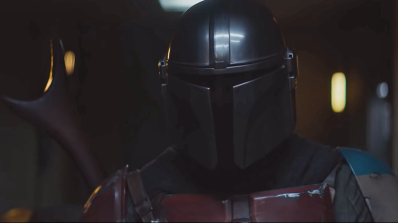 a large room: The Mandalorian's mission is far more complicated than we could have thought. (Image: Disney)