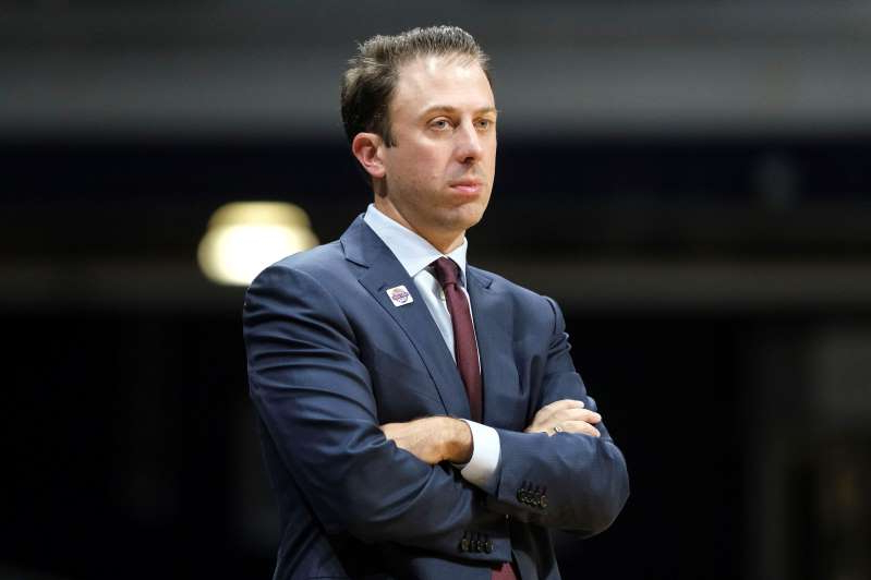Minnesota head coach Richard Pitino watches from the sideline as his team played Butler in the second half of an NCAA college basketball game in Indianapolis, Tuesday, Nov. 12, 2019. Butler won 64-56. (AP Photo/AJ Mast)