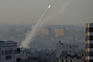 Scores of rockets rain from Gaza after Israel kills Islamic Jihad chief