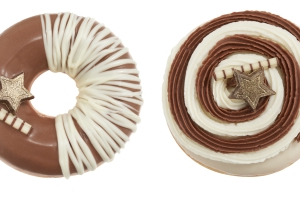 The New Krispy Kreme Winter Menu Includes A Donut With Brownie Batter And White Chocolate Filling