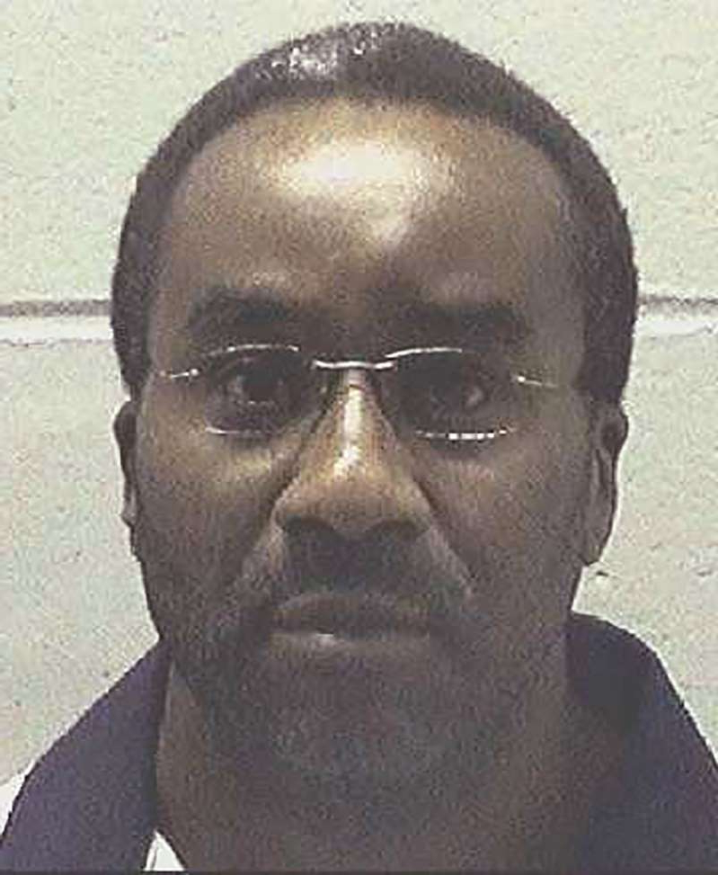This undated file photo made available by the Georgia Department of Corrections, shows inmate Ray Jefferson Cromartie in custody. Cromartie is scheduled to be executed Wednesday evening, Nov. 13, 2019, at the state prison in Jackson, Ga. He was convicted of malice murder and sentenced to death for April 1994's slaying of Richard Slysz at a Thomasville, Ga., convenience store. (Georgia Department of Corrections via AP, File)