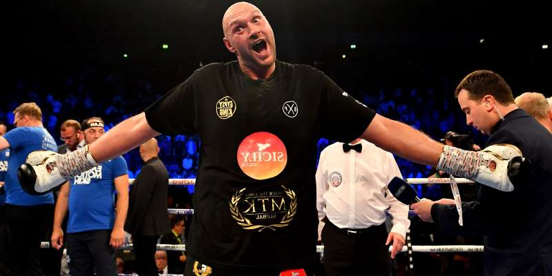 Tyson Fury doing a trick on a stage: Tyson Fury's most controversial outbursts