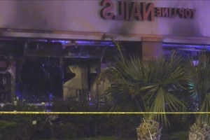 1 Dead, Woman Seriously Burned In Fire At Pico Rivera Strip Mall