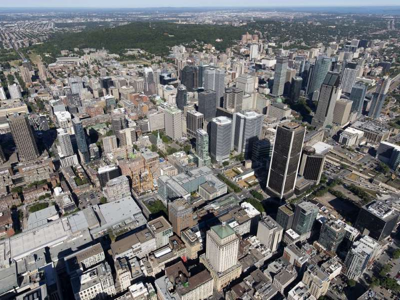 a view of a city: Montreal continues to have the highest commercial property tax ratio compared with residential at nearly four to one.