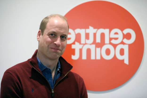 Britain's Prince William, Duke of Cambridge reacts during his visit to Centrepoint's new Apprenticeship House in south London on November 13, 2019, to celebrate the 50th anniversary of the charity. (Photo by ISABEL INFANTES / various sources / AFP) (Photo by ISABEL INFANTES/AFP via Getty Images)