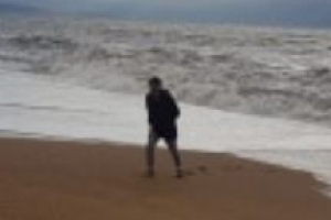 Final photo of son swept out to sea while saving mum's life