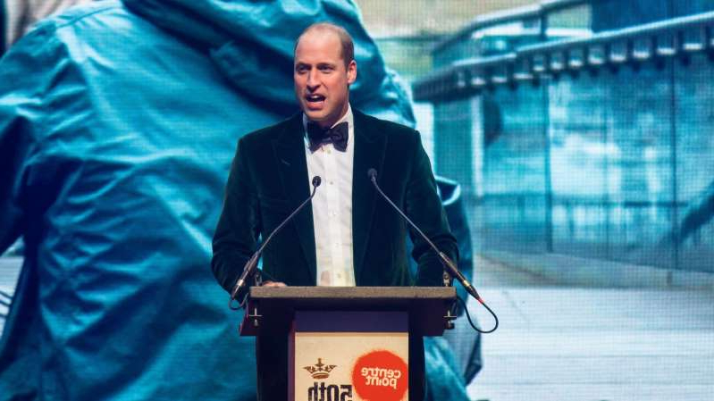 Prince William, Duke of Cambridge wearing a suit and tie: Prince William delivered a speech to mark the 50th anniversary of the Centrepoint charity