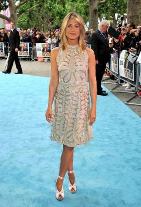 Slide 40 of 63: LONDON, ENGLAND - JULY 20: Actress Jennifer Aniston attends the 'Horrible Bosses' film premiere at BFI Southbank on July 20, 2011 in London, England. (Photo by Jon Furniss/WireImage)