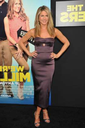 Slide 46 of 63: NEW YORK, NY - AUGUST 01: Actress Jennifer Aniston attends the 'We're The Millers' New York Premiere at Ziegfeld Theater on August 1, 2013 in New York City. (Photo by Kevin Mazur/WireImage)