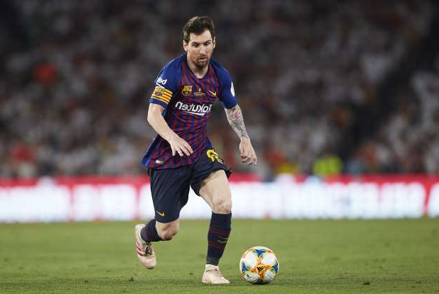 Slide 51 of 51: SEVILLE, SPAIN - MAY 25: Lionel Messi of Barcelona in action during the Spanish Copa del Rey Final match between Barcelona and Valencia at Estadio Benito Villamarin on May 25, 2019 in Seville, . (Photo by Quality Sport Images/Getty Images)