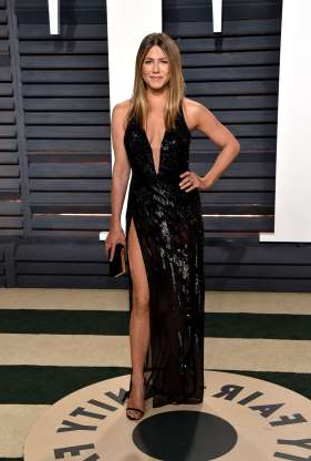 Slide 53 of 63: BEVERLY HILLS, CA - FEBRUARY 26: Actress Jennifer Aniston attends the 2017 Vanity Fair Oscar Party hosted by Graydon Carter at Wallis Annenberg Center for the Performing Arts on February 26, 2017 in Beverly Hills, California. (Photo by John Shearer/Getty Images)