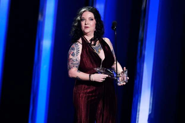Slide 7 of 18: The 53rd Annual CMA Awards - Show - Nashville, Tennessee, U.S., November 13, 2019 - Ashley McBryde accepts the new artist of the year award. REUTERS/Harrison McClary