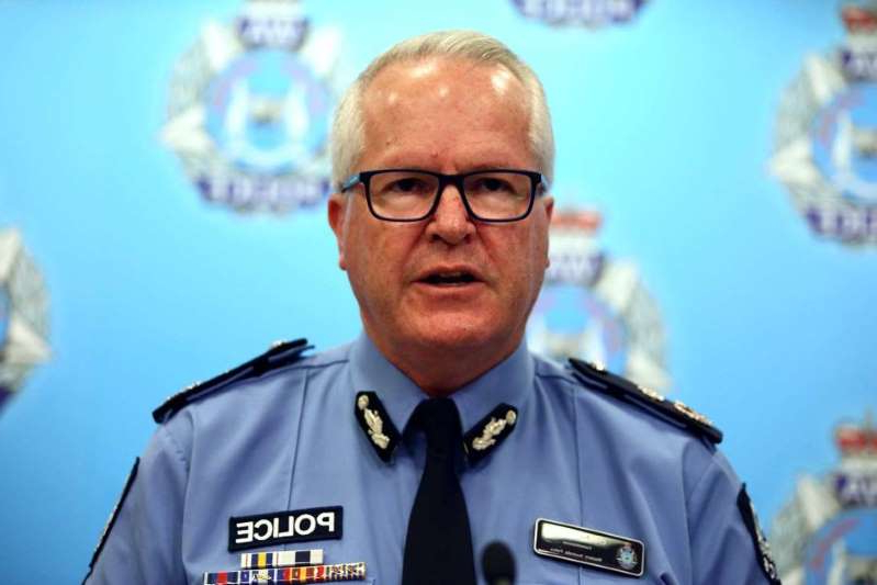 WA Police Commissioner Chris Dawson addresses the media.