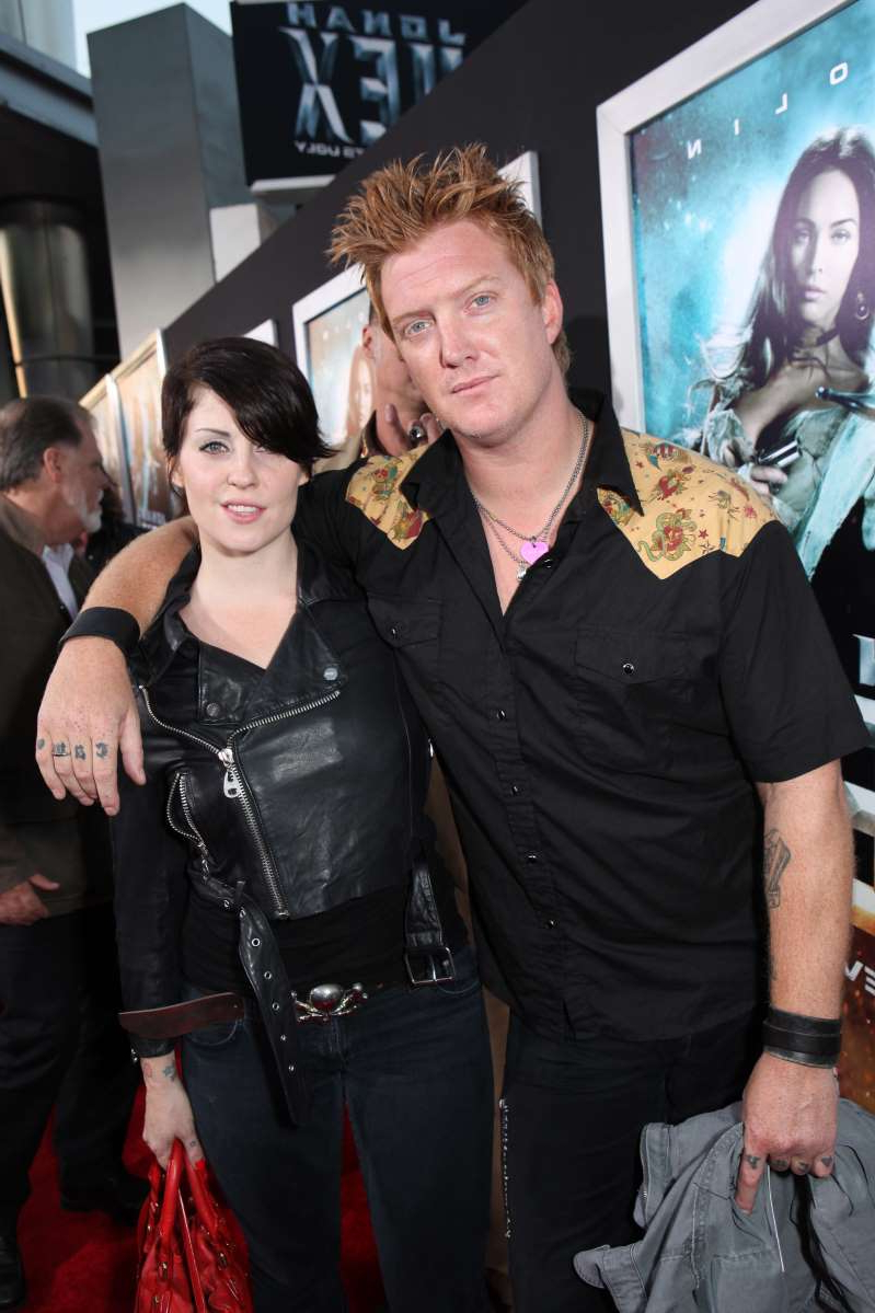Joshua Homme, Brody Dalle posing for the camera: Josh Homme and Brody Dalle at Warner Bros. Pictures Los Angeles Screening of
