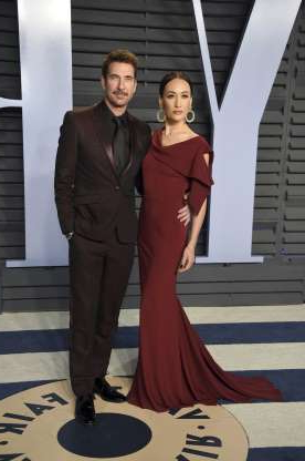 Slide 54 of 117: On Feb. 28, People magazine confirmed that Dylan McDermott and Maggie Q had split and ended their four-year engagement. The actors were first romantically linked in the fall of 2014.